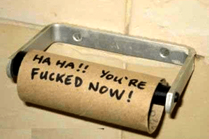 Papier toilette en voyage