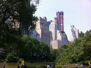 La fraîcheur de Central Park
