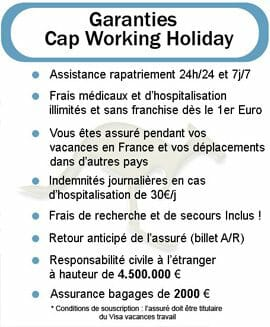 Assurance voyage Working Holiday