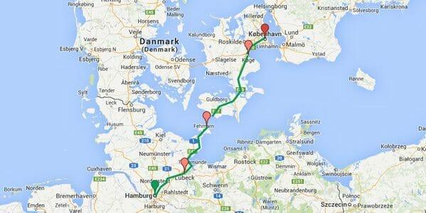 Hambour Copenhague en vélo