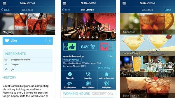 Drink Advisor app