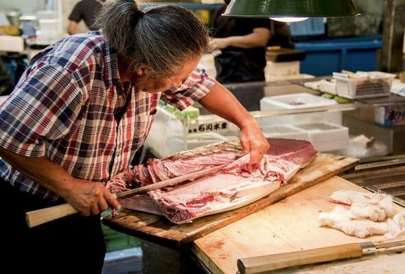 Vendeur à Tsukiji