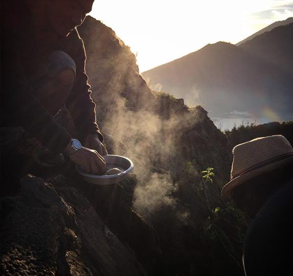 Petit déjeuner mon Batur