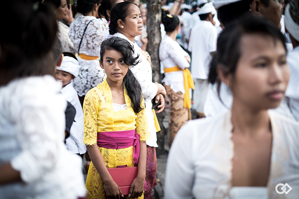 Festival Bali, petite fille