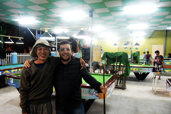 Small game of billiards in Vietnam