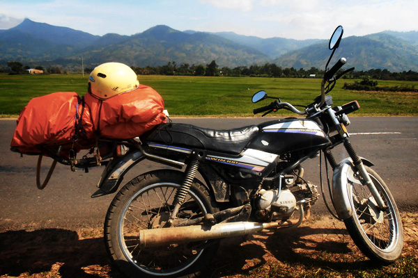 Traveling by bike in Vietnam