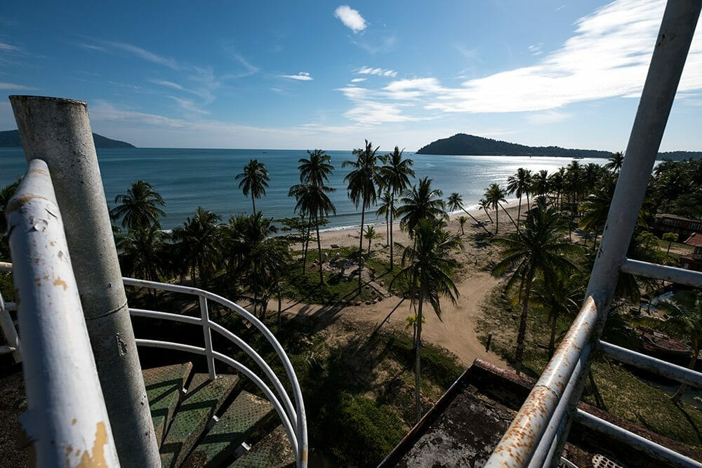 Une belle vue sur la plage