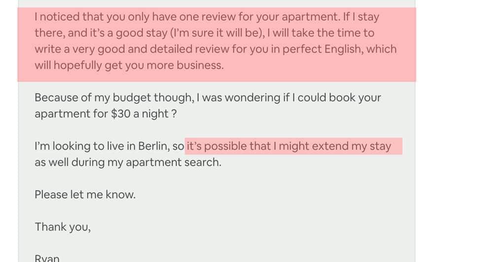 Négocier airbnb
